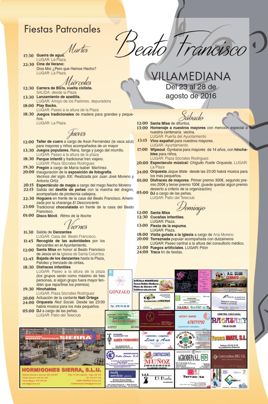 Fiestas Patronales Beato Francisco 2016